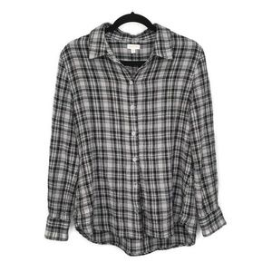 Garnet Hill Organic Cotton 8 Long Sleeve Plaid
